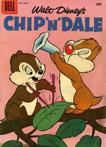 Chip 'n' Dale 1 - Dell - Walt Disneys - Leaf - Tree - Sticks