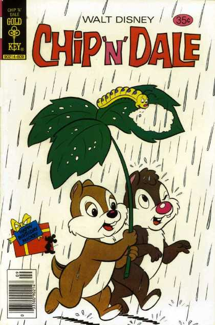 Chip 'n' Dale 54 - Gold Key - Rain - Walt Disney - Catapiller - Leaf