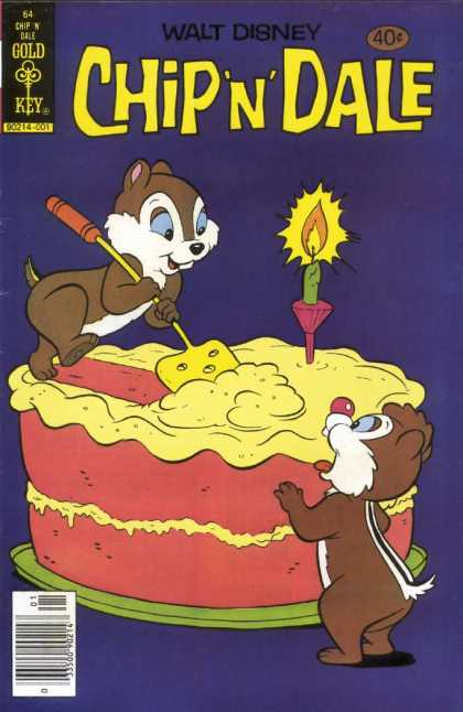 Chip 'n' Dale 64 - Disney - Cartoon - Vintage Comics - Squirrels - Gold Key