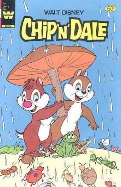 Chip 'n' Dale 79 - Walt Disney - Mushroom - Rain - Insects - Classic