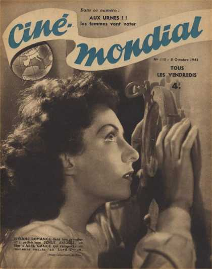 Cine-Mondial 110 - Film Of History - Beautiful Lady - Unhappy Women - Yous Les Vendredis 4 - Thift Lady