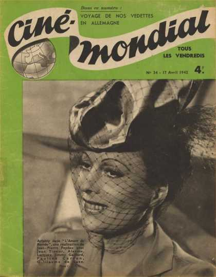 Cine-Mondial 34 - French - Hat - Woman - World - Movies