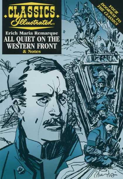 Classics Illustrated II 1 - Your Doorway To The Classics - Erich Maria Remarque - Cap - Gun - All Quiet On The Western Front