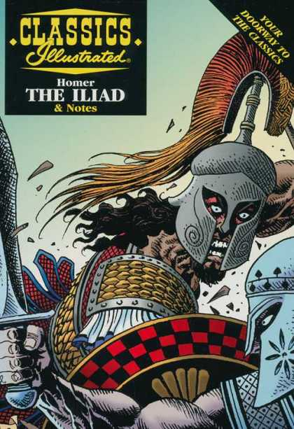 Classics Illustrated II 14 - Homer - Iliad - Sword - Shield - Battle