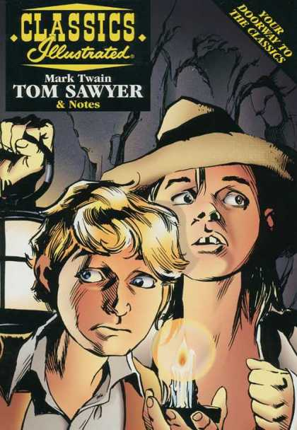 Classics Illustrated II 38 - Mark Twain - Tom Sawyer - Candle - Huckleberry Finn - Hat