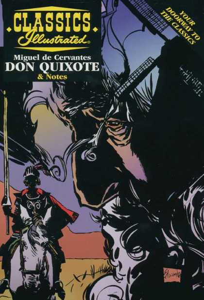 Classics Illustrated II 9 - Miguel De Cervantes - Don Quixote - Your Doorway To The Classics - Windmill - Donkey