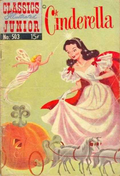Classics Illustrated Junior - Cinderella - Princess - Fairy Godmother - Wand - Pumpkin - Carriage Horses
