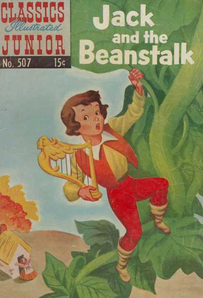 Classics Illustrated Junior - Jack and the Beanstalk - Jack - Beanstalk - On A Tree - Under The Tree - Shouting Little Girl