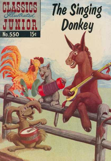 Classics Illustrated Junior - The Singing Donkey - Donkey - Banfo - Rooster - Cat - The Singing Donkey