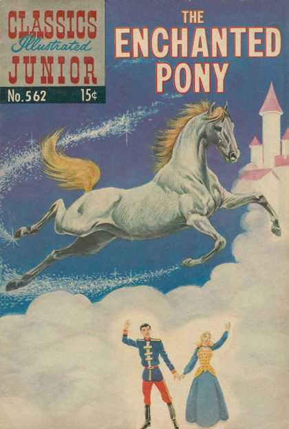 Classics Illustrated Junior - The Enchanted Pony - White Horse - One Couple - Flying In Sky - Send Off - Beautiful Angel