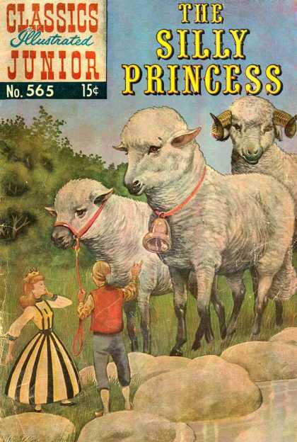 Classics Illustrated Junior - The Silly Princess - Illustrations - Sheep - Hurdle - Big Sheep - Silly Princess