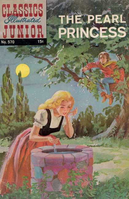Classics Illustrated Junior - The Pearl Princess - The Pearl Princess - No570 - Moon - Tree - Water