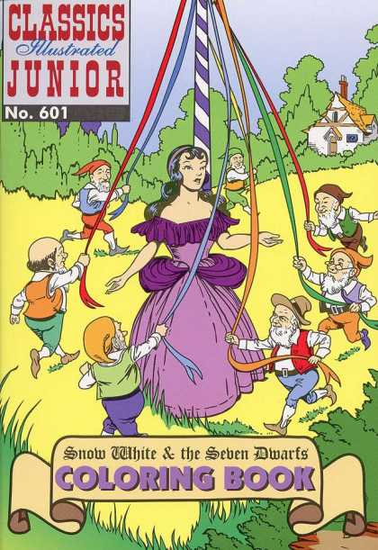 Classics Illustrated Junior - Snow White and the Seven Dwarfs - Home - No161 - Snow White - The Seven Dwarfs - Coloring Book