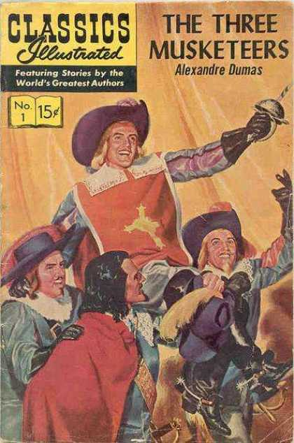 Classics Illustrated - The Three Musketeers - Three Musketeers - France - Athos - Porthos - Aramis