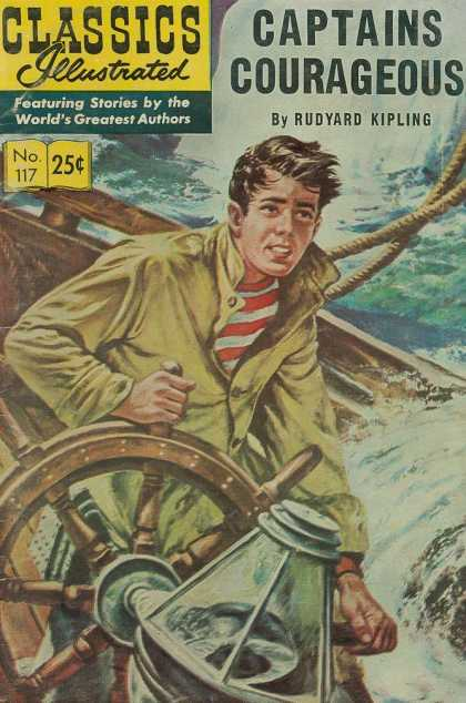 Classics Illustrated - Captain Courageous - Rope - Windy - Sea - Boat - Compass