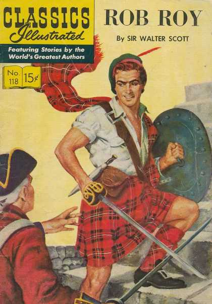 Classics Illustrated - Rob Roy - Rob Roy - Sir Walter Scott - Kilt - Swords - Shield