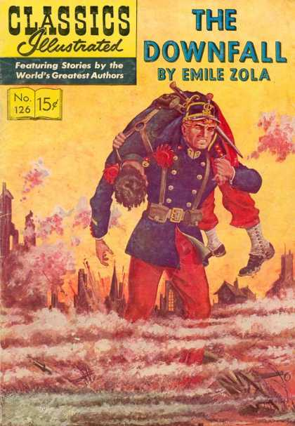 Classics Illustrated - The Downfall - Soldiers - Battlefield - Yellow - Smoke - Men