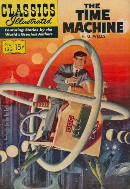 Classics Illustrated - The Time Machine - Man - Stars - Levers - Circles - Cage