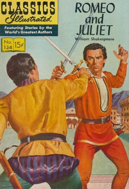 Classics Illustrated - Romeo and Juliet - Romeo And Juliet - William Shakespeare - Duel - Swords - Striped Pants