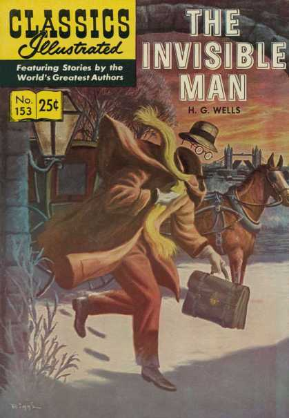 Classics Illustrated - The Invisible Man - The Invisible Man - Horse - London - H G Wells - Bridge