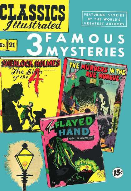 Classics Illustrated - Sin of the 4, Murders in the Rue Morgue, Flayed Hand - Sherlock Holmes - The Murders In The Rue Morgue - The Flayed Hand - The Sign Of The 4 - No 21 - Kyle Baker