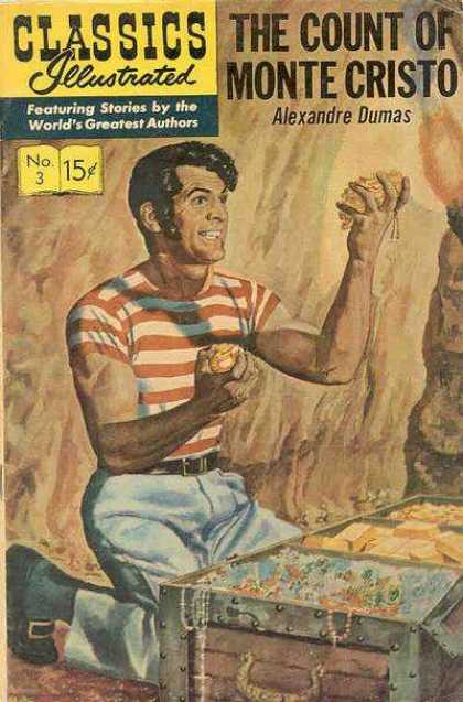 Classics Illustrated - The Count of Monte Cristo - Alexandre Dumas - Monte Cristo - Treasure - Sand - Gold - Kyle Baker