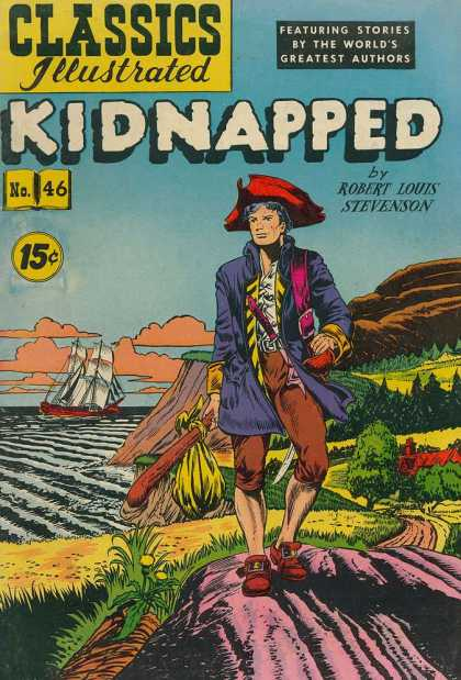 Classics Illustrated - Kidnapped - Kidnapped - Robert Louis Stevenson - Ship - Shore - Stories