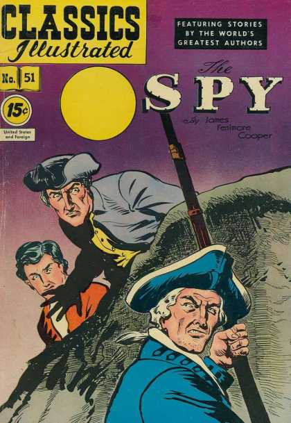 Classics Illustrated - The Spy - English - Rifle - Men - Adventure - Spies