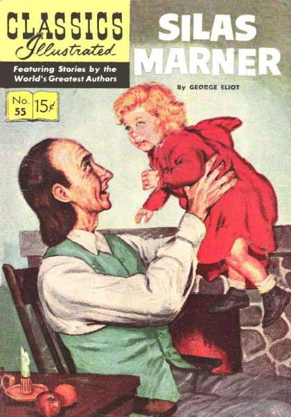Classics Illustrated - Silas Marner - Baby - Father - Jump - Smile - Vintage