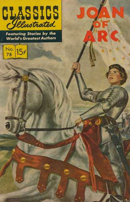 Classics Illustrated - Joan of Arc - Joan Of Arc - Flag - Horse - Armor - Sword