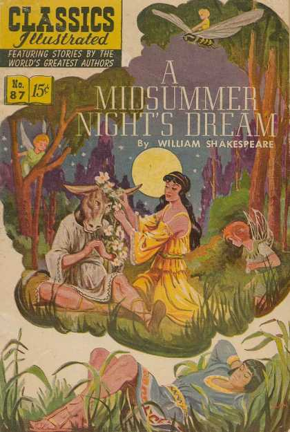 Classics Illustrated - A Midsummer Night's Dream - A Midsummer Nights Dream - William Shakespeare - Fairies - Moon - Maiden
