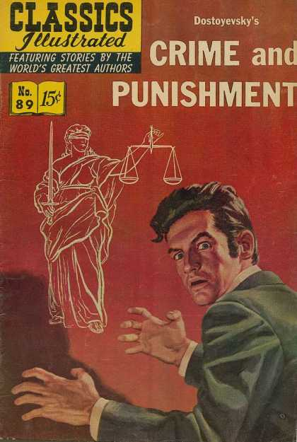 Classics Illustrated - Crime and Punishment - Statue - Dostoyevsky - Crime And Punishment - Man - Featuring Stories By The Worlds Greatest Authors