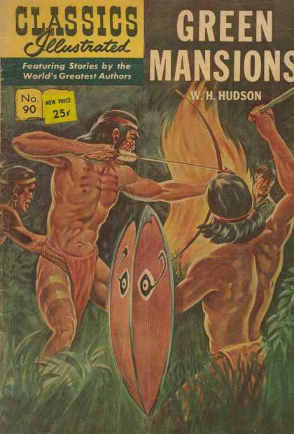 Classics Illustrated - Green Mansions - Green Mansions - Wh Hudson - No 90 - Indians - Bow