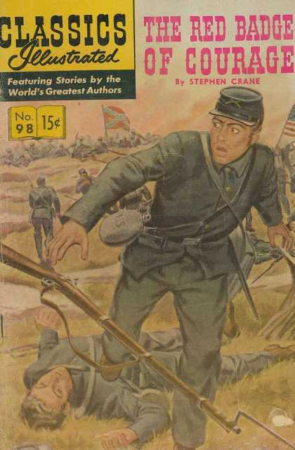 Classics Illustrated - The Red Badge of Courage - The Red Badge Of Courage - Civil War - Confederate Flag - Union - Army