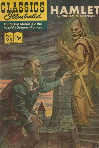 Classics Illustrated - Hamlet - Hamlet - William Shakespeare - Ghost - Castle - Surprised Man