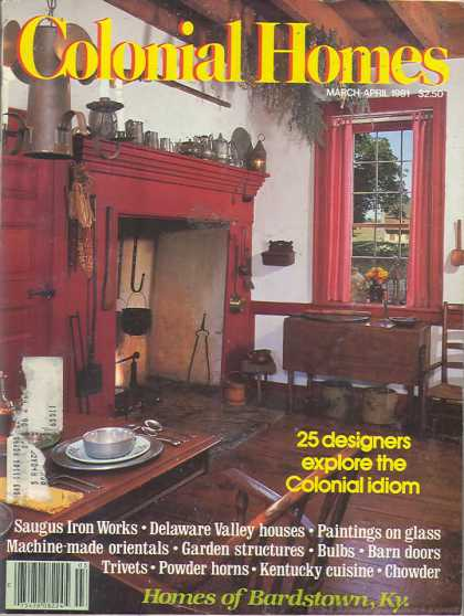Colonial Homes - March 1981