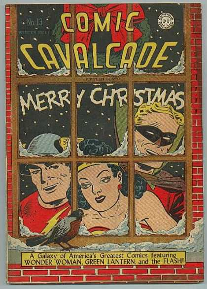Comic Cavalcade 13 - Merry Christamas - Wonder Woman - Green Lantern - Flash - A Galaxy Of Americas Greatest Comic Featuring
