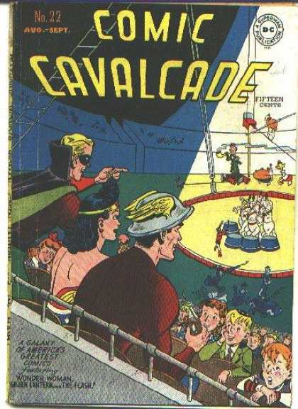 Comic Cavalcade 22 - Circus - Wonder Woman - Green Lantern - The Flash - Performing Animals
