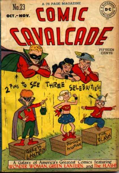 Comic Cavalcade 23 - Green Lantern - Wonder Woman - The Flash - Fence - Children