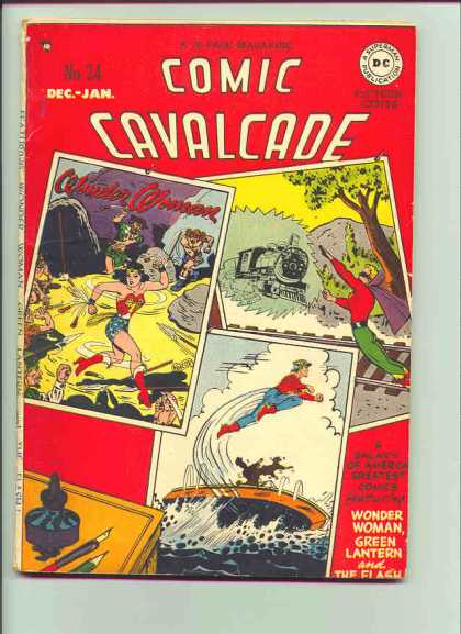 Comic Cavalcade 24 - Dec-jan - Superman - Dc - Tree - Wounder Woman - Harry Peter