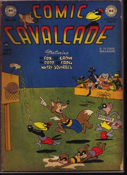 Comic Cavalcade 32 - Comic Cavalcade - Basketball - Mechanical Hand - Animals - Dc Publication