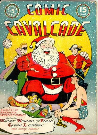 Comic Cavalcade 5 - Wonder Woman - Green Lantern - A Galaxy Of Americas Greatest Comics - The Flash - Santa Claus