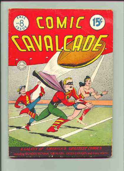 Comic Cavalcade 8 - Football - Wonder Woman - Stadium - Yardline - The Flash