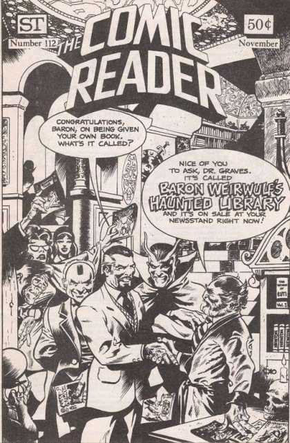 Comic Reader 112 - Book - Number 112 - Haunted - Library - Baron Weirwulfs