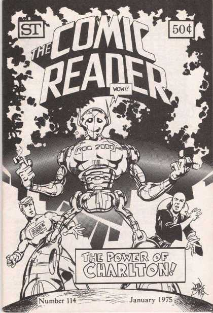 Comic Reader 114 - The Comic Reader - Charlton - Black And White Cover - January 1975 - Roc 2000