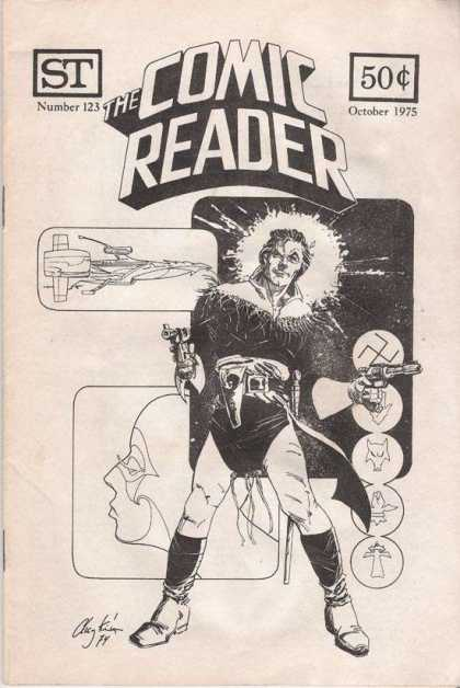 Comic Reader 123 - Number 123 - Guns - Men - Space Ship - October 1975