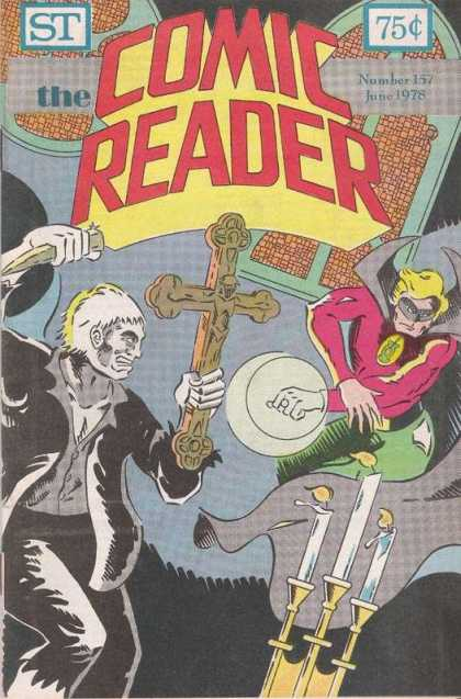Comic Reader 157 - Cross - 75 Cents - Crucifix - Stake - Superhero