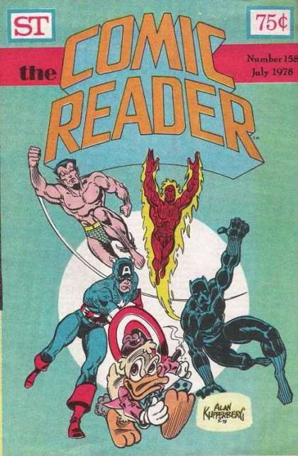 Comic Reader 158 - Namor - Human Torch - Captain America - Howard The Duck - Black Panther