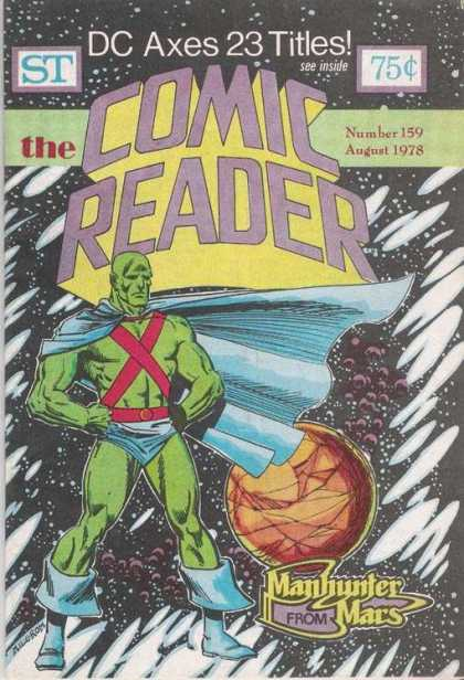Comic Reader 159 - Cape - Manhunter From Mars - Stars - Planet - Muscles
