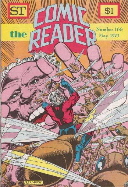 Comic Reader 168 - Number 168 - May 1979 - Bees - Bee Sized Person - Cowering